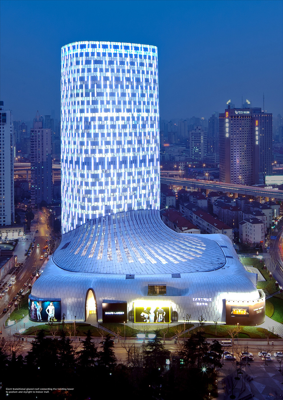Shortlisted in the Shopping Category: L'Avenue Shanghai in China by Leigh & Orange (Photo courtesy of World Architecture Festival)