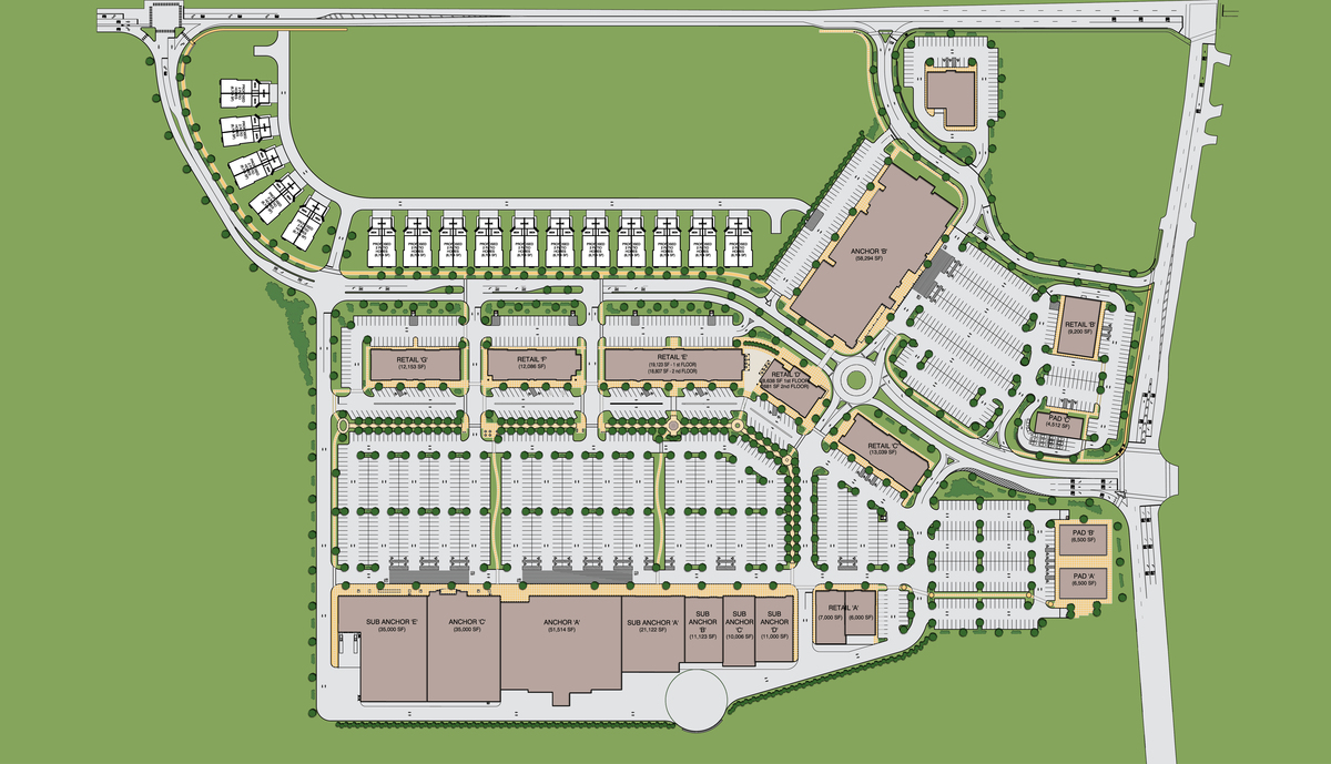 Site Plan Autocad : Retail center in central nj katharine santalla archinect