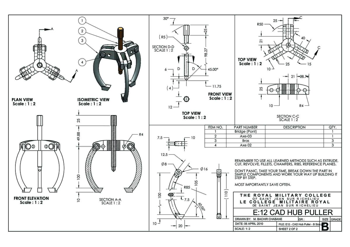 catia solidworks portfolio bachir chabane archinect hub puller solidworks project