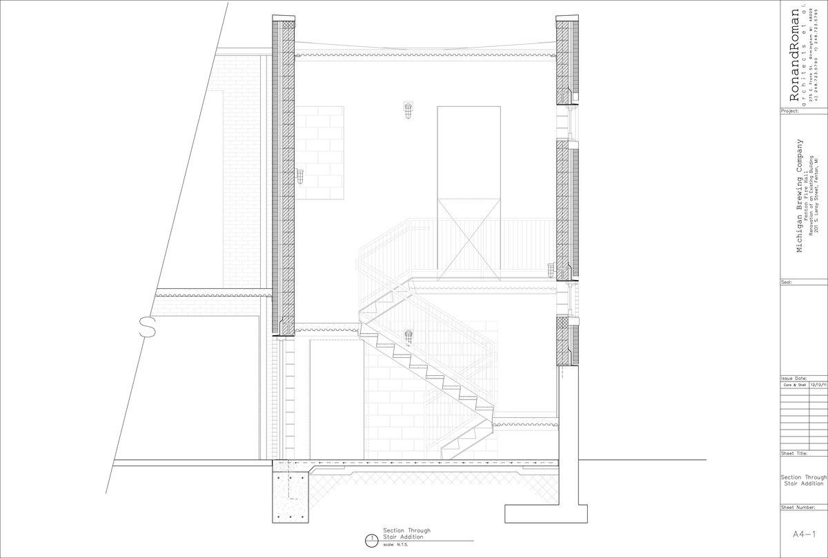 Stair Section | Trevor Weltzer | Archinect