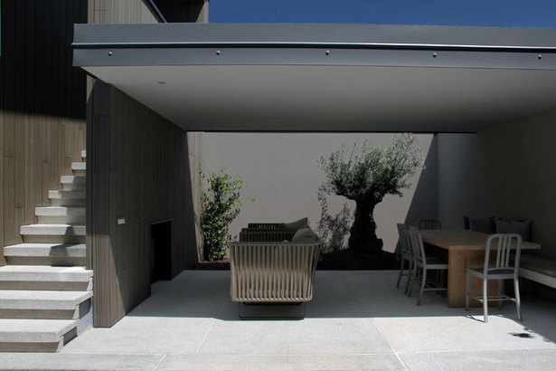 outdoor living room by day