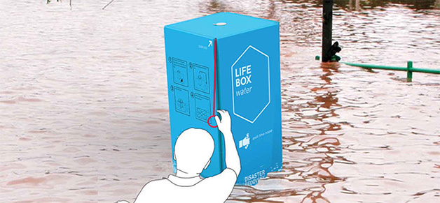 A Life Box imagined in a flood situation. Credit: Life Box