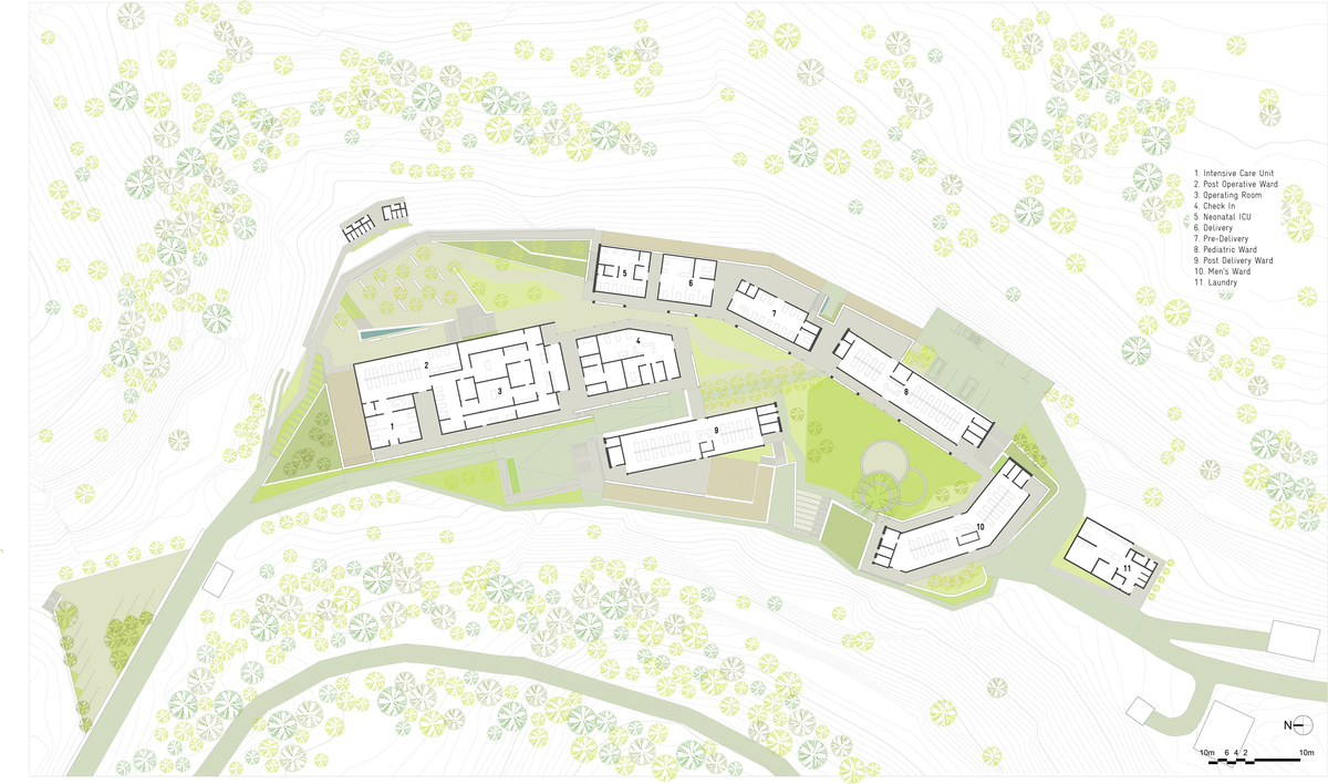 Upper level site plan.