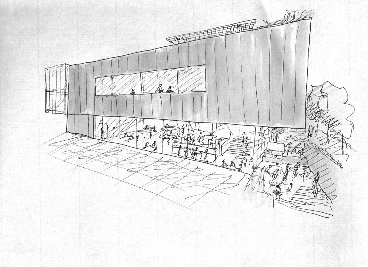 Sketch of exterior