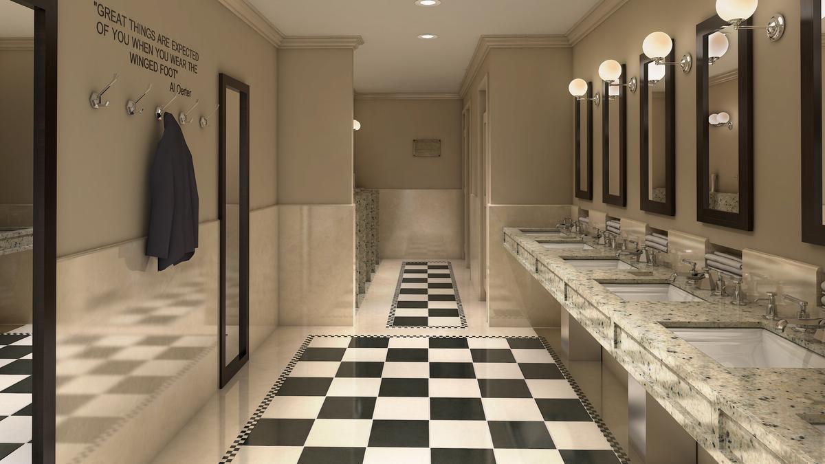 Athletic Club Bathroom Daniel Black Archinect
