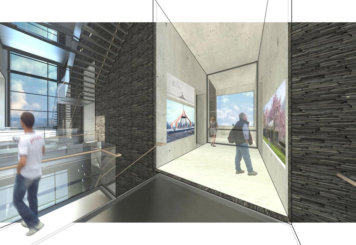Exhibition Void - Showing Saarinens works