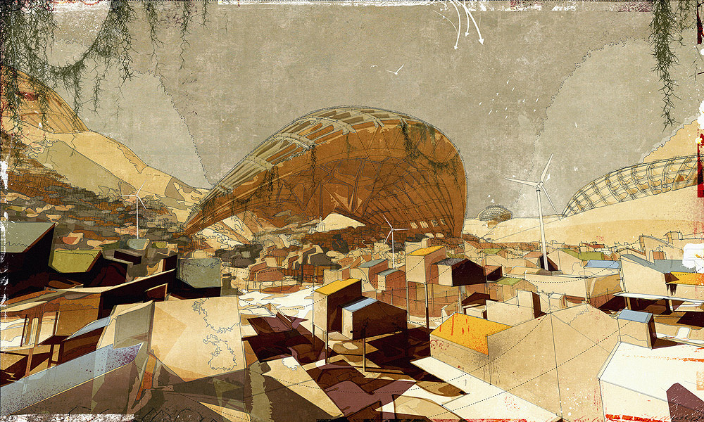 The Outer-City Settlement, digital media on paper, [2008] 60x40
