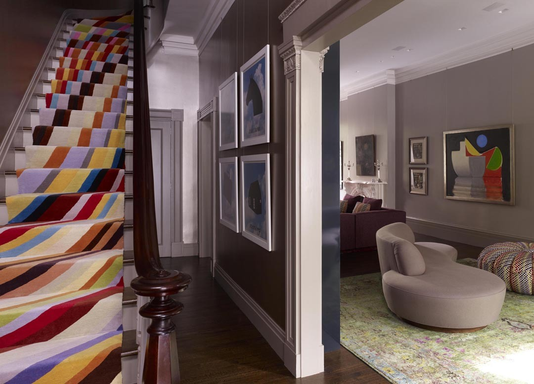 Stair hall & living room