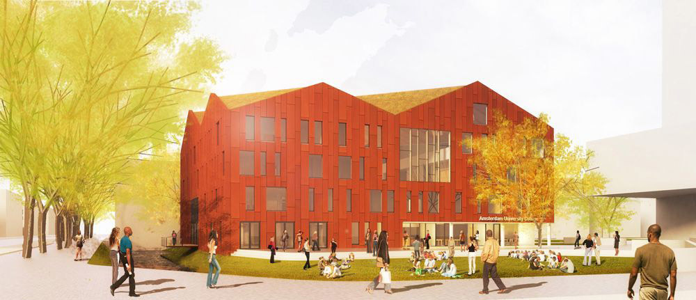 Visualization of the proposed new academic building (Image Image: Mecanoo architecten)