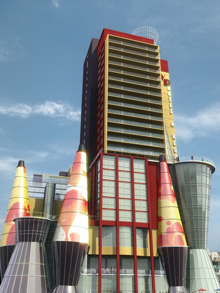Wildwood Beach Hotel & Resort - View of patios at hotel tower.