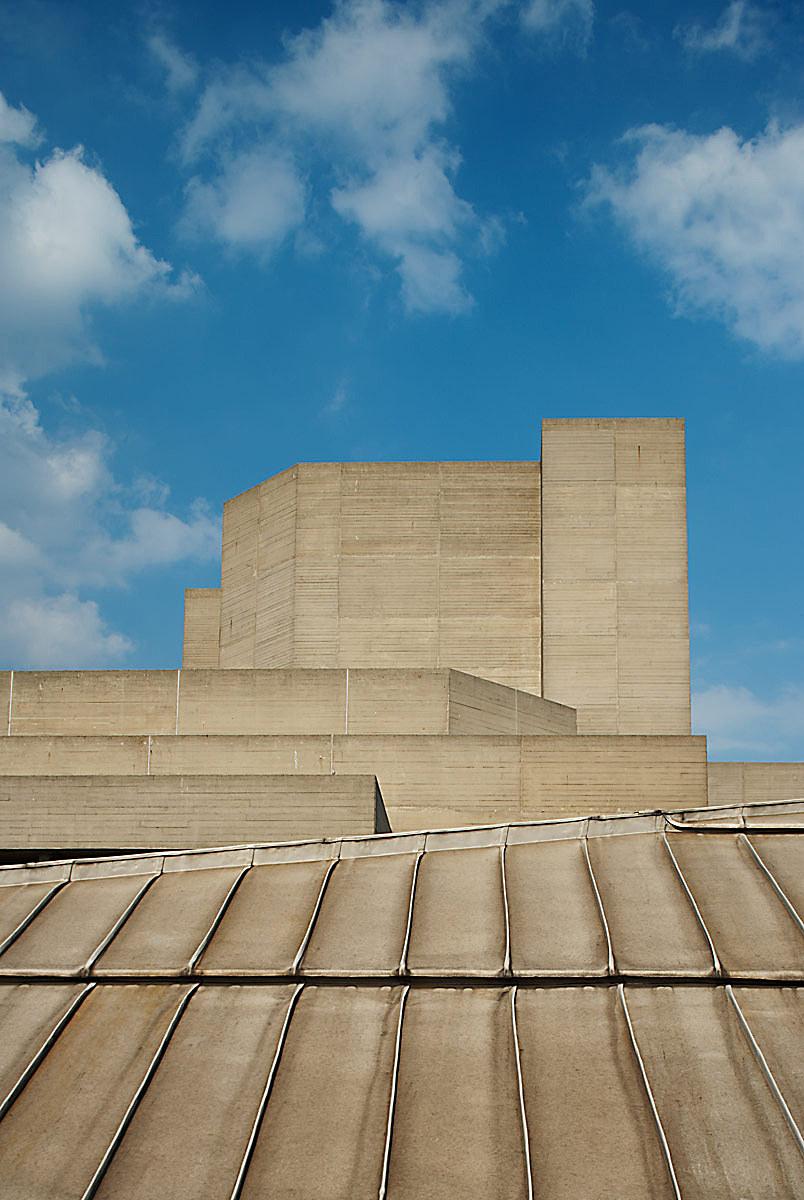 National theatre by Sir Denys Lasdun, Southbank, London.
