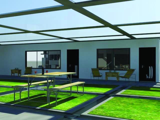 Indoor patio (3Dmax rendering)