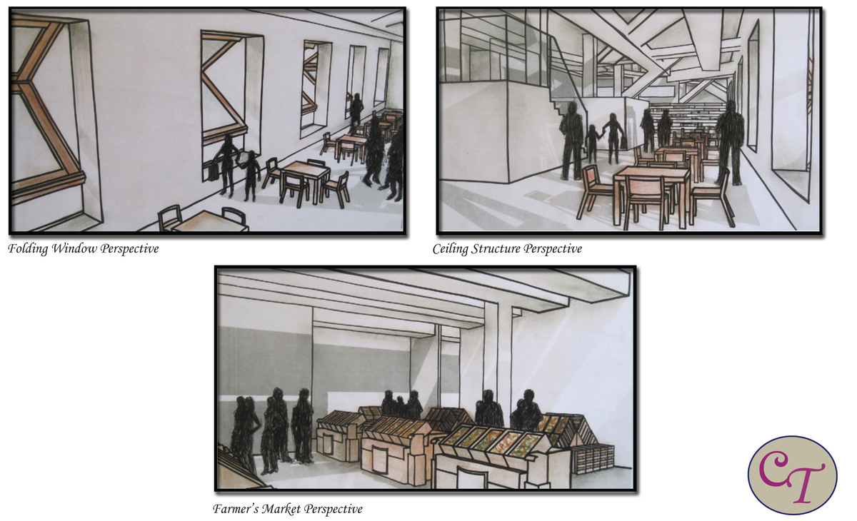 Hand Rendered Perspective Drawings