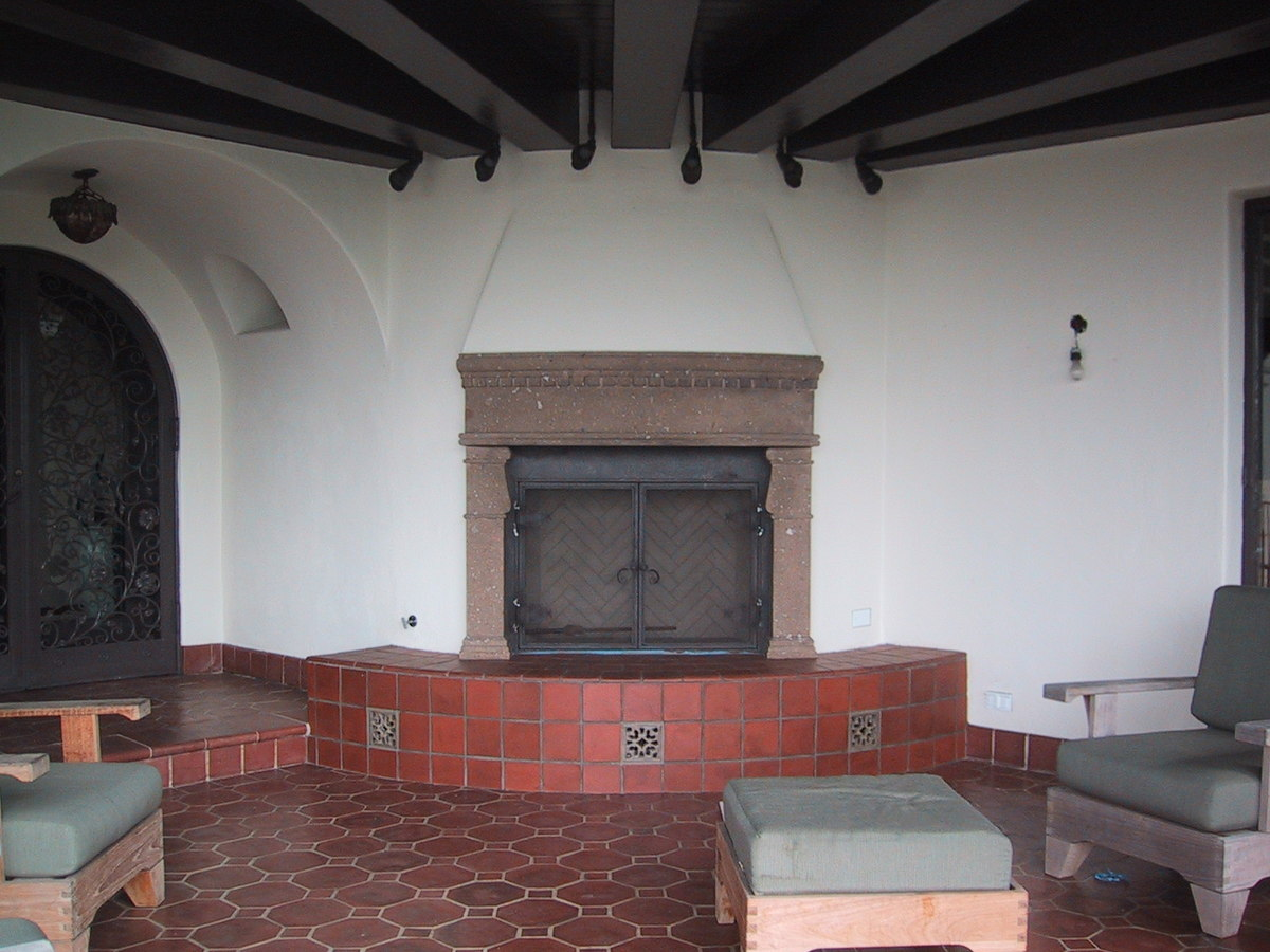 Loggia - new fireplace