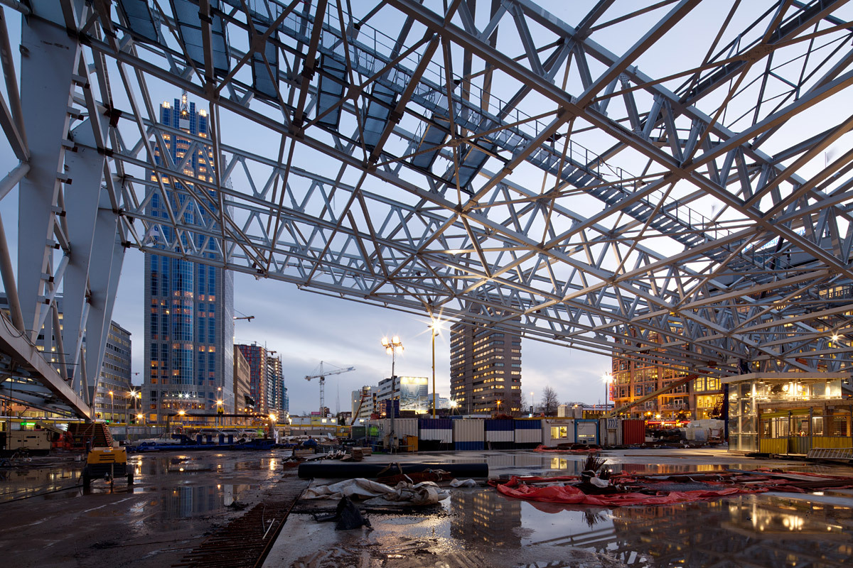 The Central Station in Rotterdam under construction. This photo was taken for the Architecture Agenda Rotterdam. © Ossip van Duivenbode
