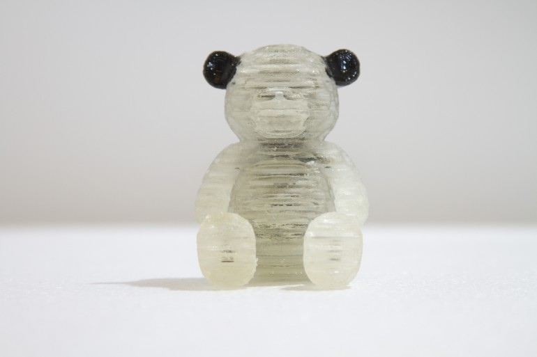 3D printed squishy teddy bear. Courtesy of MIT Computational Fabrication Group.
