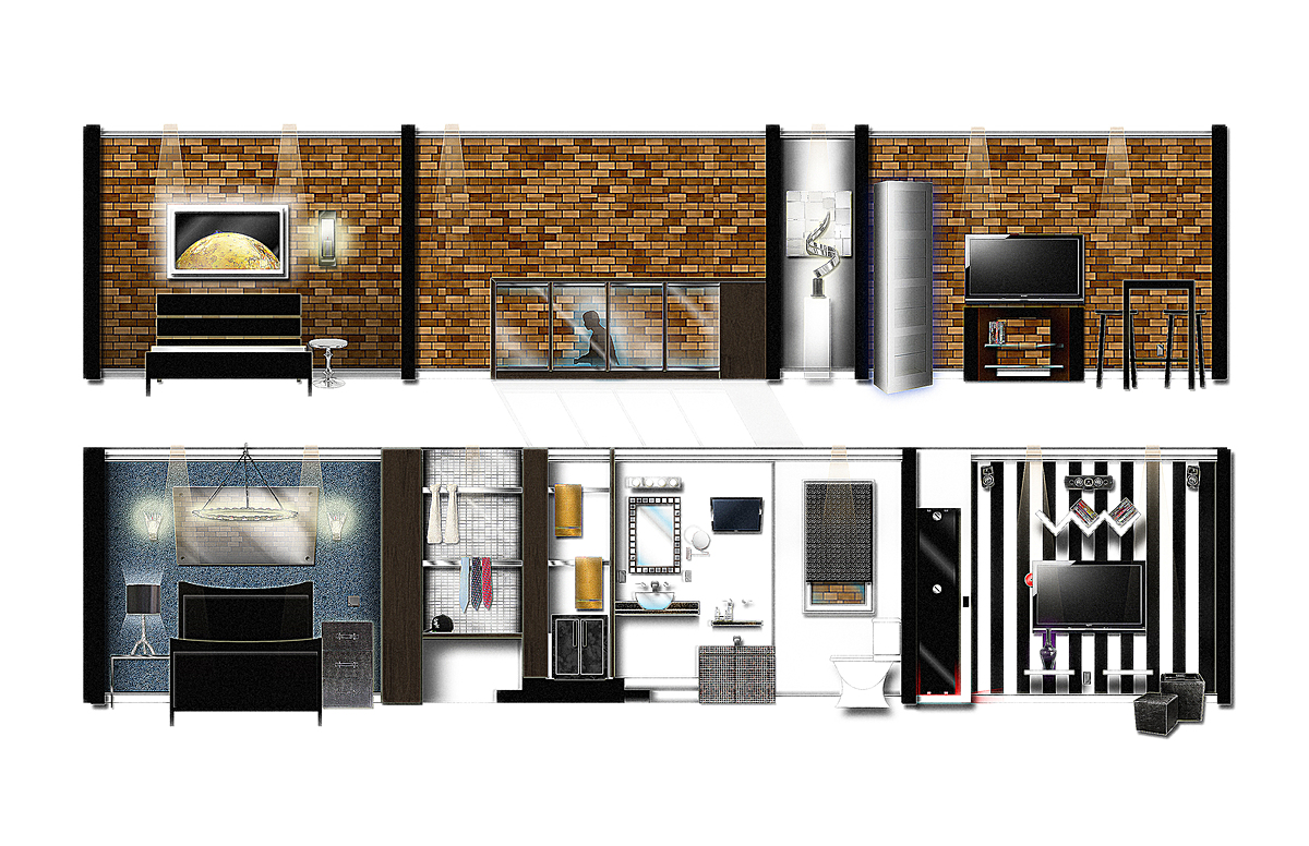 BRICK WALL/FEATURE WALL SECTIONS