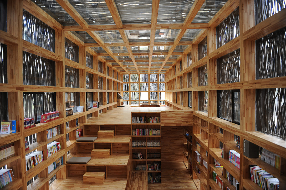 Showcase liyuan library by li xiaodong atelier features for Imagenes de arquitectura
