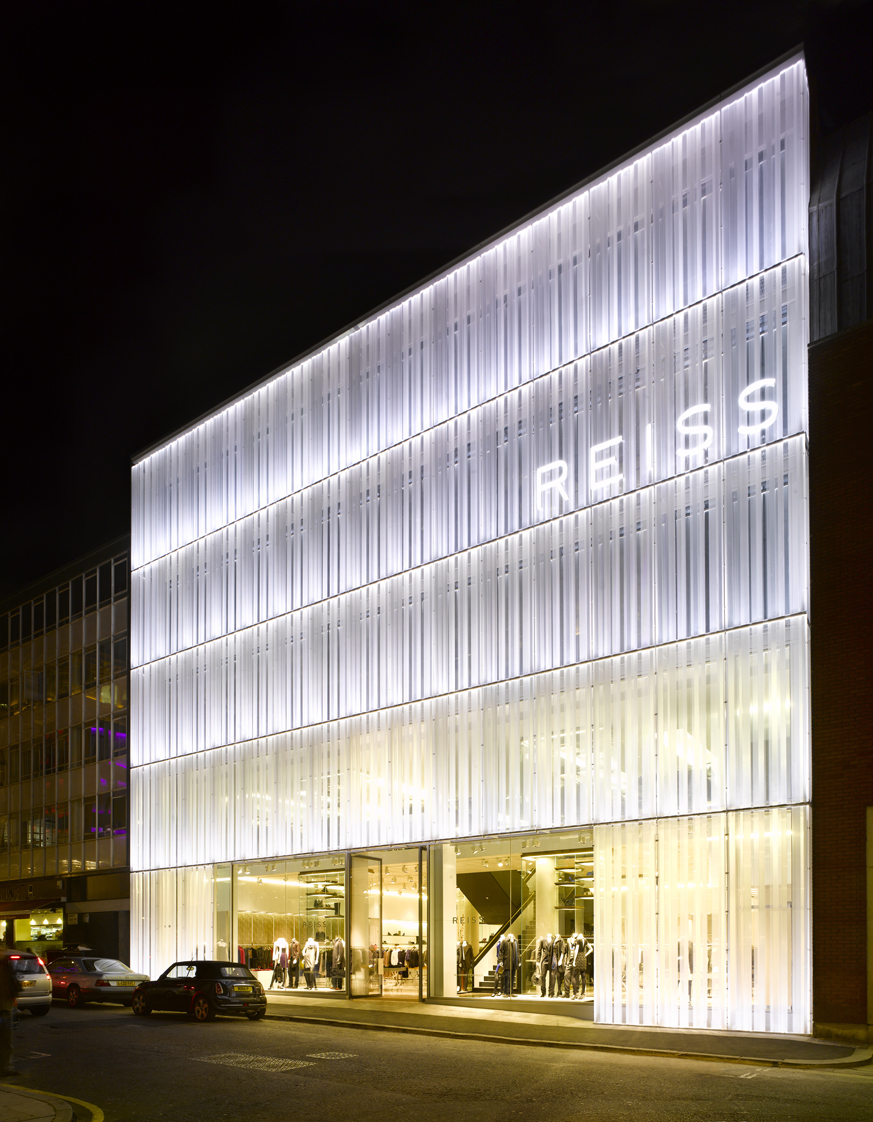Reiss hq squire and partners archinect for Retail design companies london