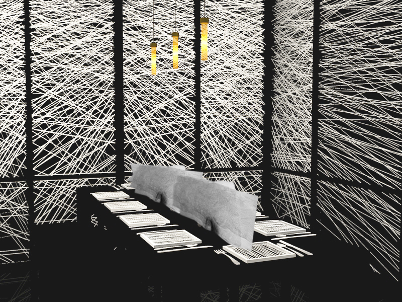 Rendering of Dining Booth