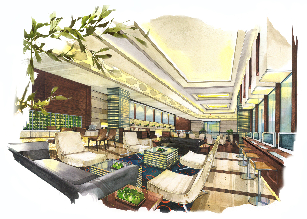 Grand four wings convention hotel napong kulangkul for Small lounge layout