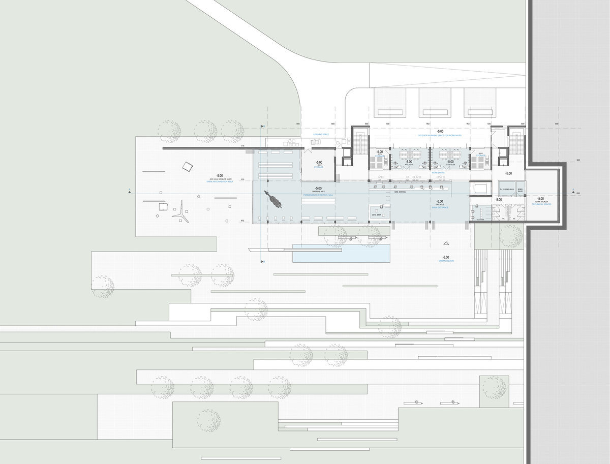 007 – LOWER GROUND FLOOR PLAN | 1/200 - Image Courtesy of ONZ Architects
