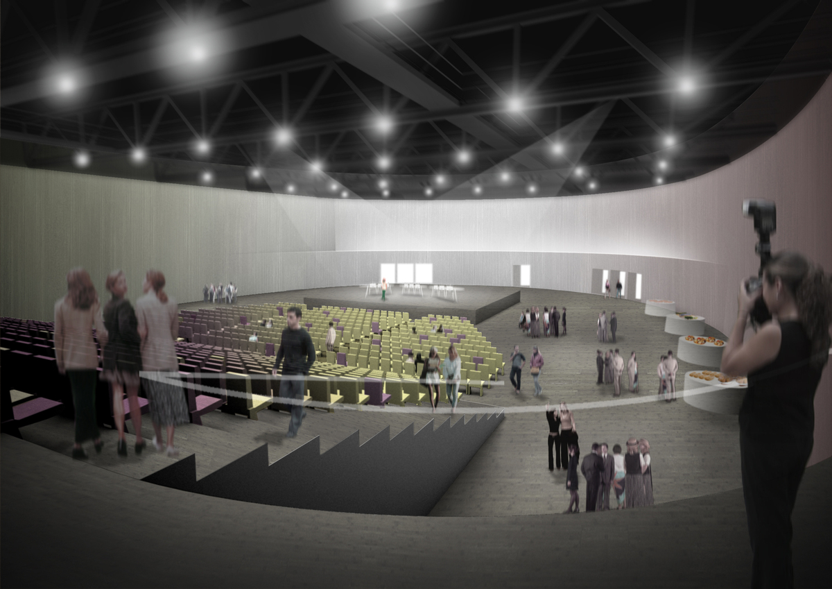 Theatre Aulnay Sous Bois > Multi purpose Hall in Aulnay sous Bois Brisac Gonzalez Architects Archinect