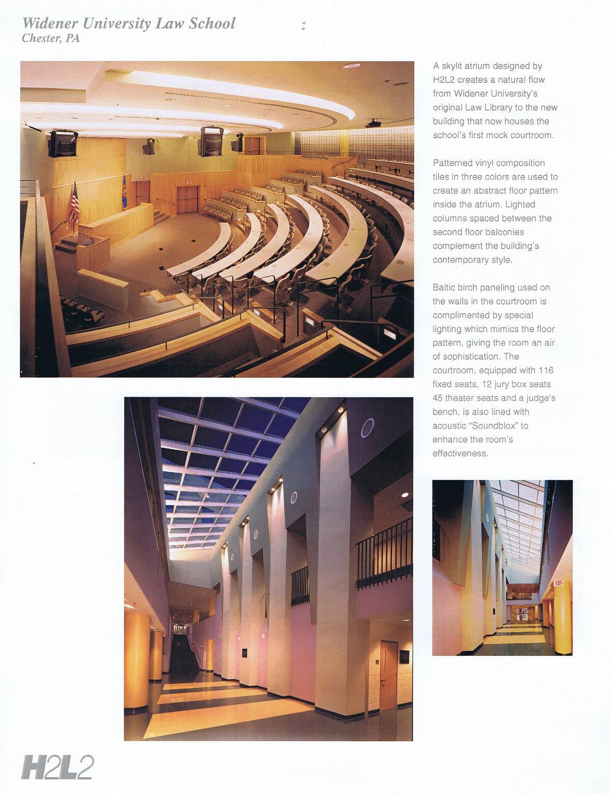 Moot Court Room and Atrium