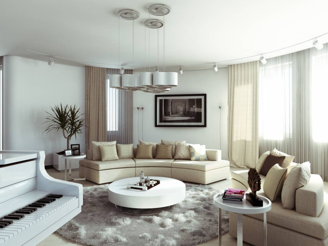 Raised Ranch Living Room Decorating Charming Minimalism Apartment Design In Multifunctional Complex