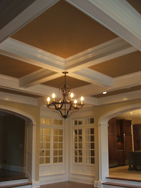 Coffered Ceiling Family Room