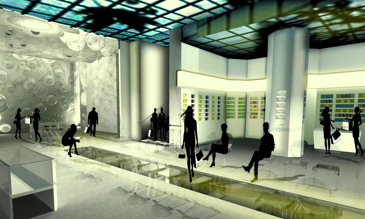 3D-Model Rendering of 1st Floor