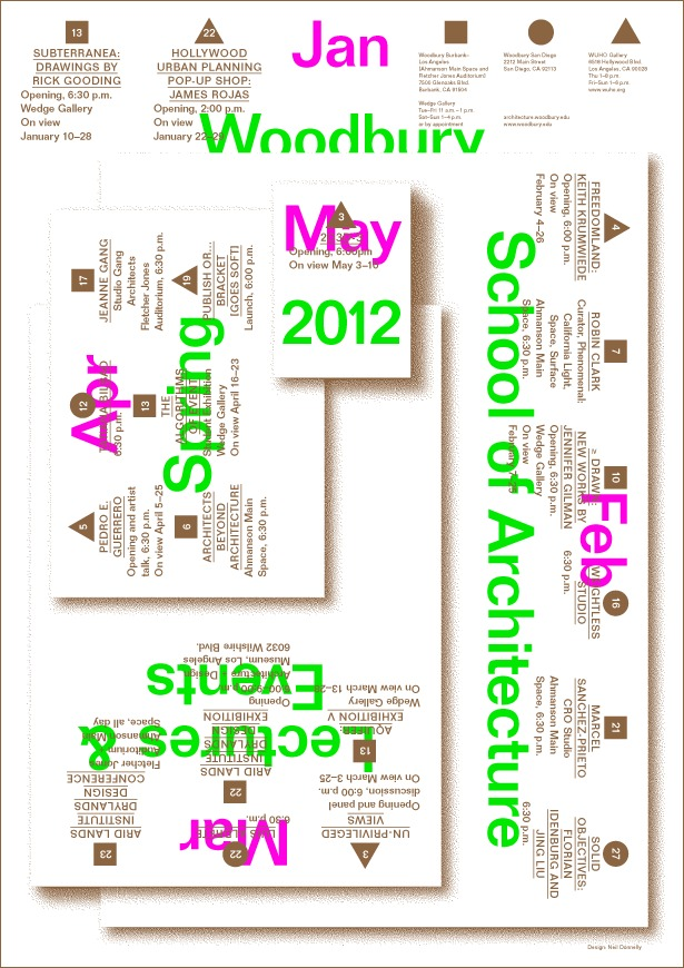 Woodbury School of Architecture, Spring 2012