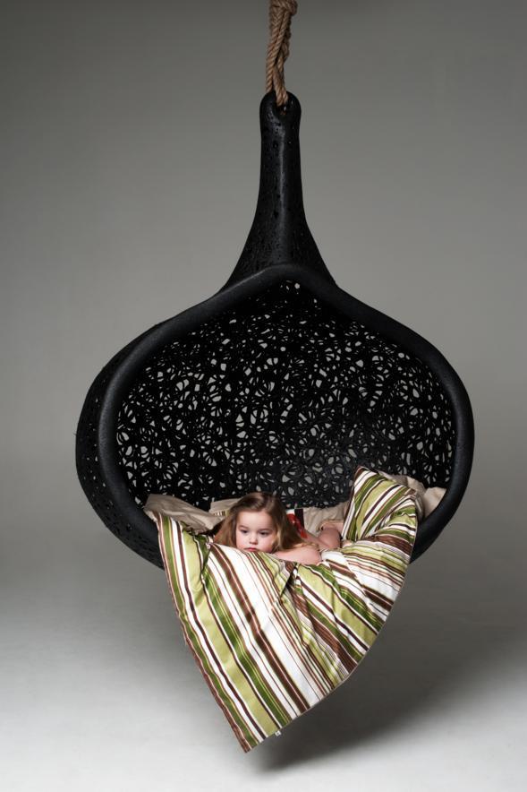 Basalt fiber Manu Nest Chair by Raimonds Cirulis.