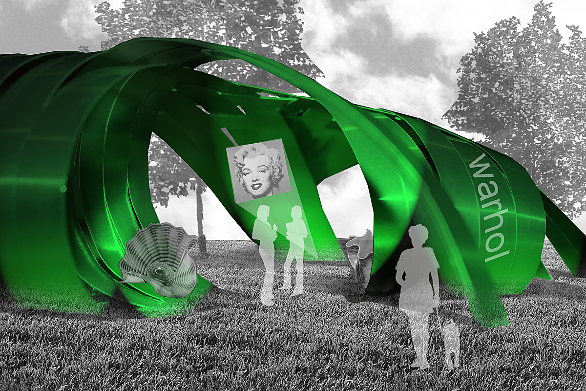 Render - Green-lit Model in site