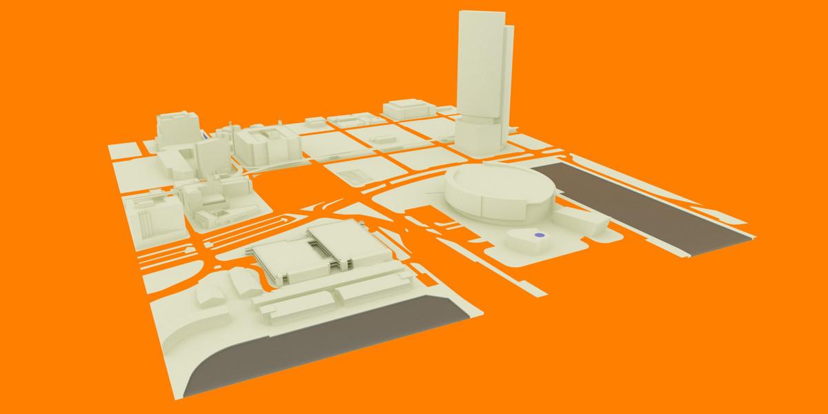 Project context 3D model