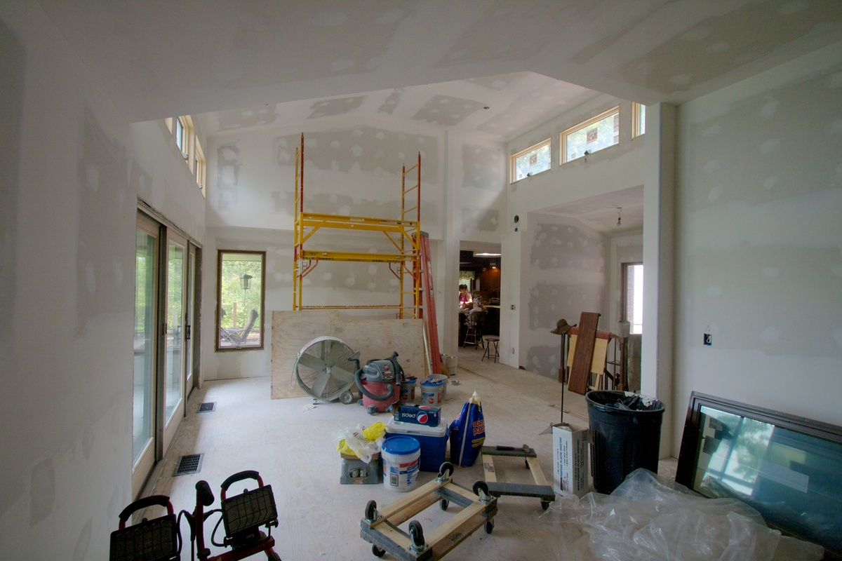 Great Room during construction
