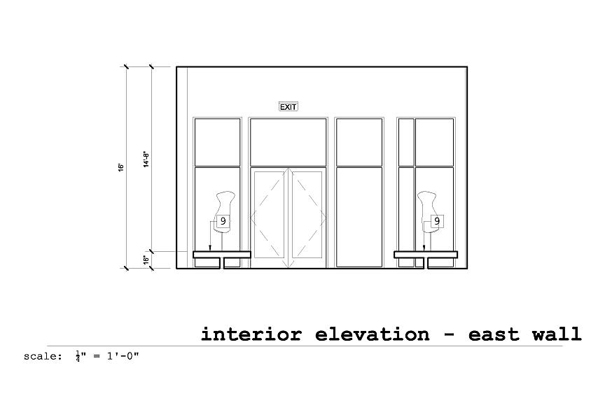 Interior Elevation East