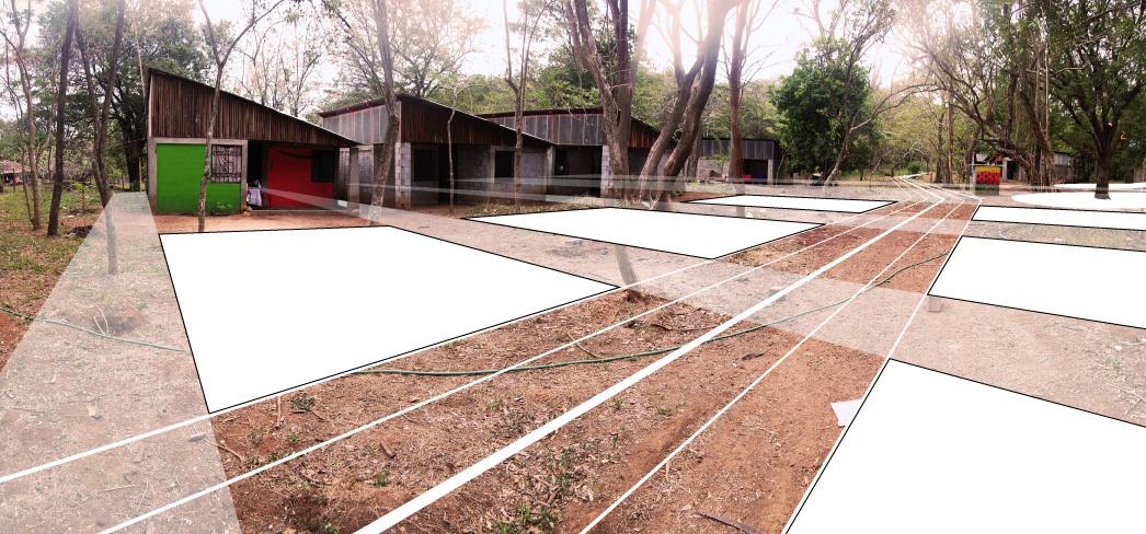 Diagram of Casas de la Esperanza 2 Housing Locations. Project a collaboration between Quilian Riano, DSGN AGNC; Teddy Cruz and Cesar Fabela, Estudio Teddy Cruz; and Landscape Architect Simon Bussiere and his 2011 Ball State Landscape Architecture Studio. Courtesy of the author.
