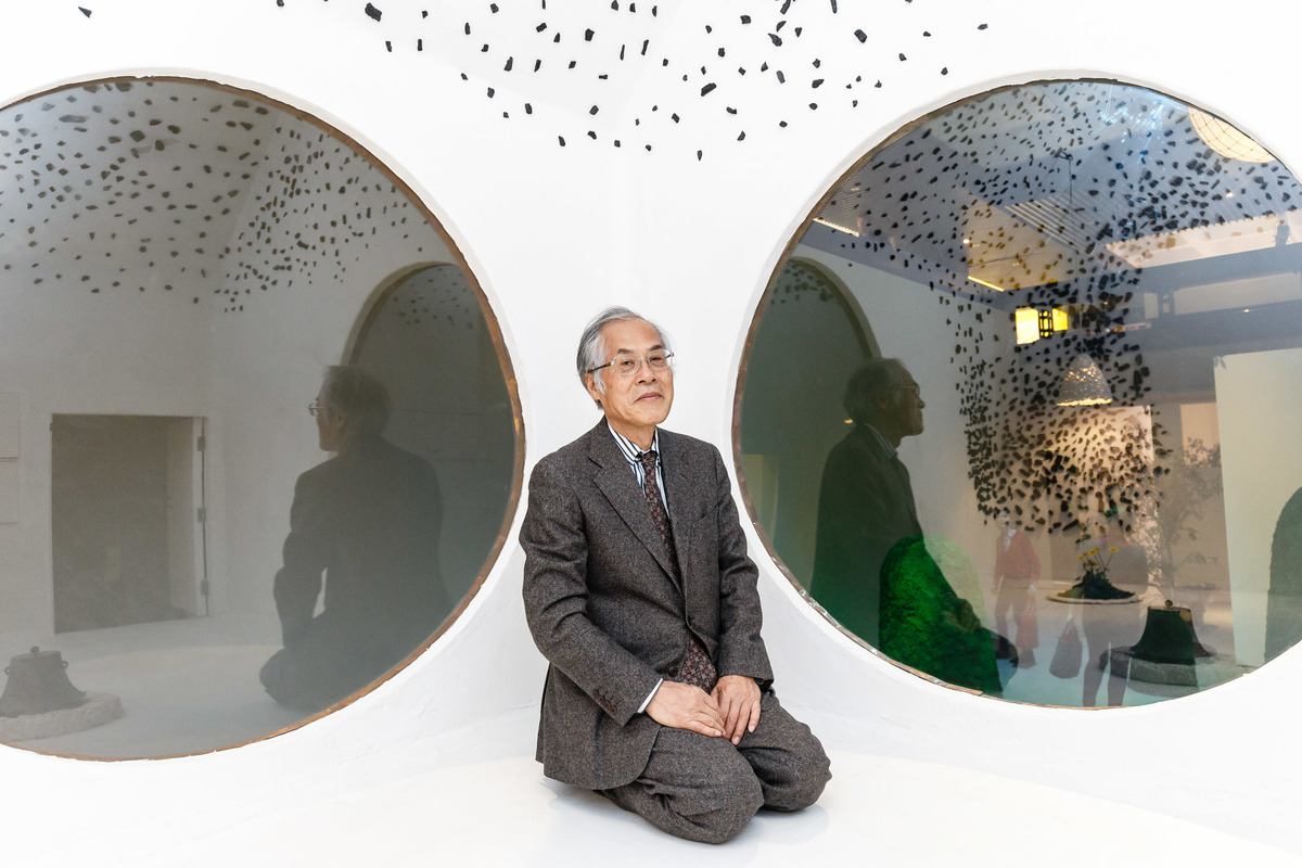 Portrait of architect Terunobu Fujimori. Photo by Miles Willis / Getty Images