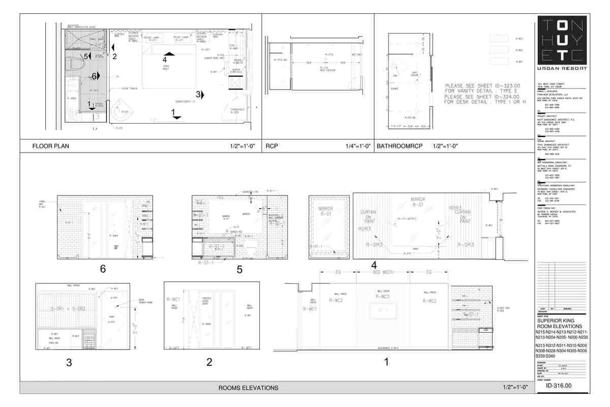 Enlarged hotel room- My sample drafting