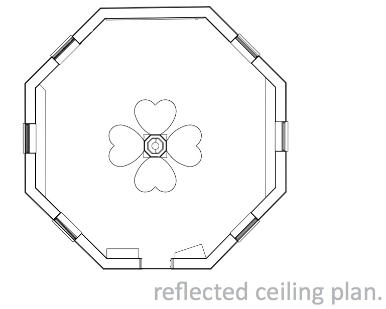 Reflected ceiling plan.