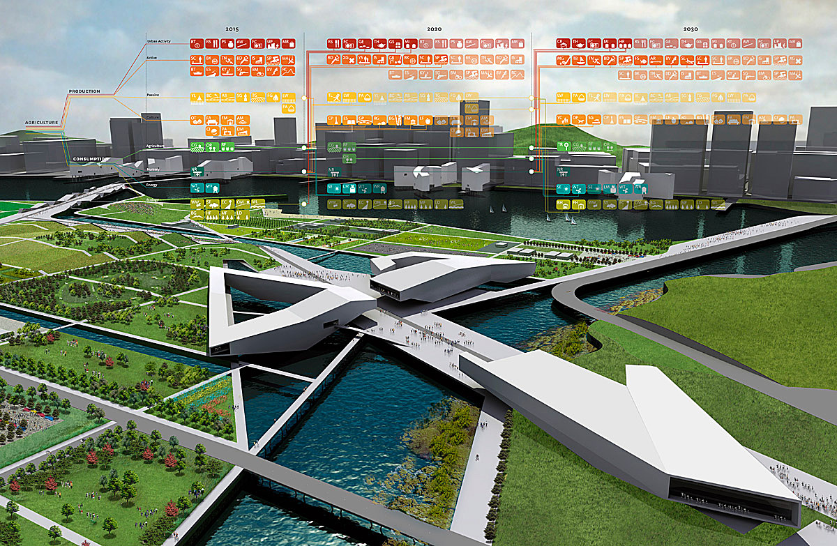 Central Open Space in Mac Competition, Chungcheongnam-do Province, Korea; Graphics Courtesy of SWA