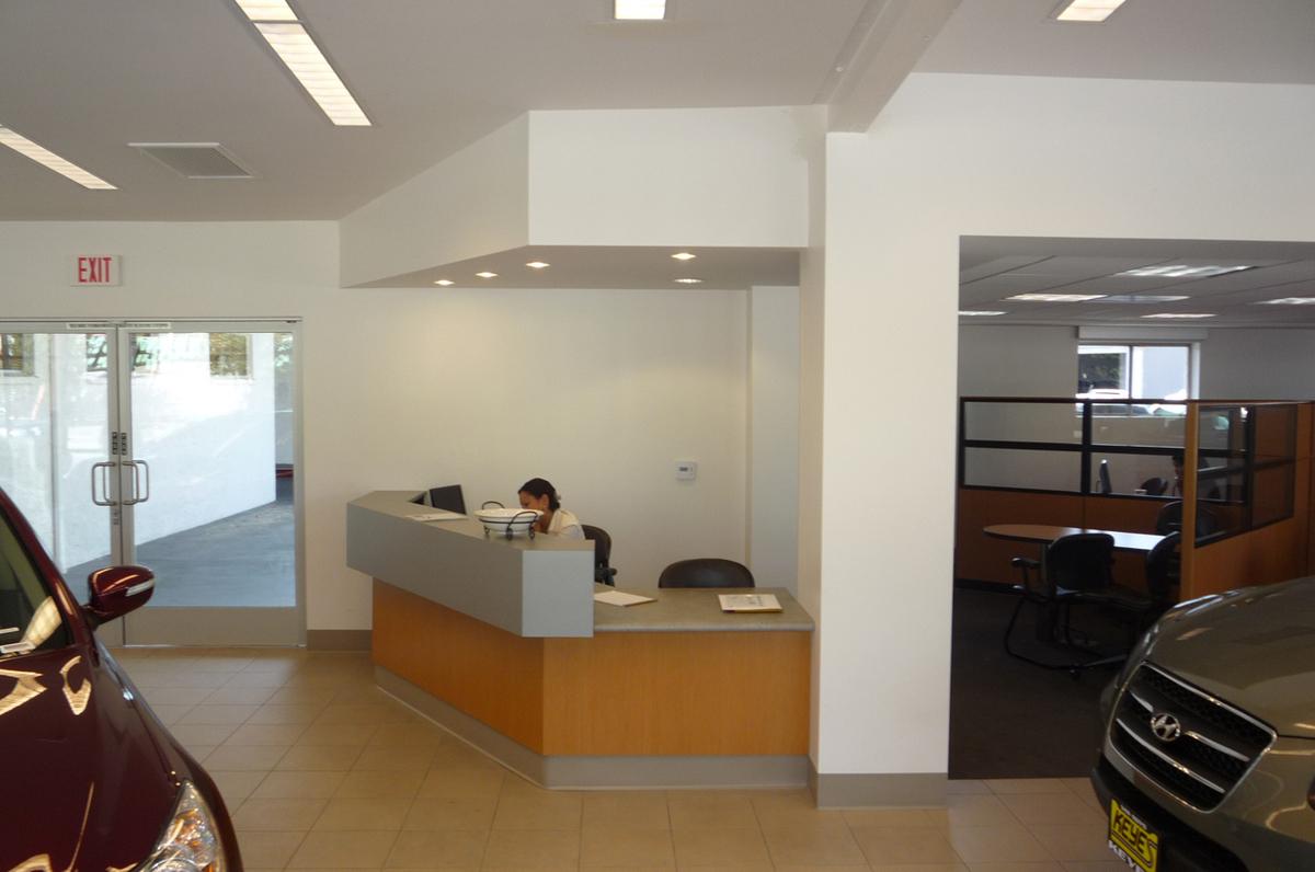 Custom Designed and Fabricated Reception Desk