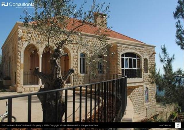 Zlaket 39 s villa fj consultants archinect - Libanese villa ...