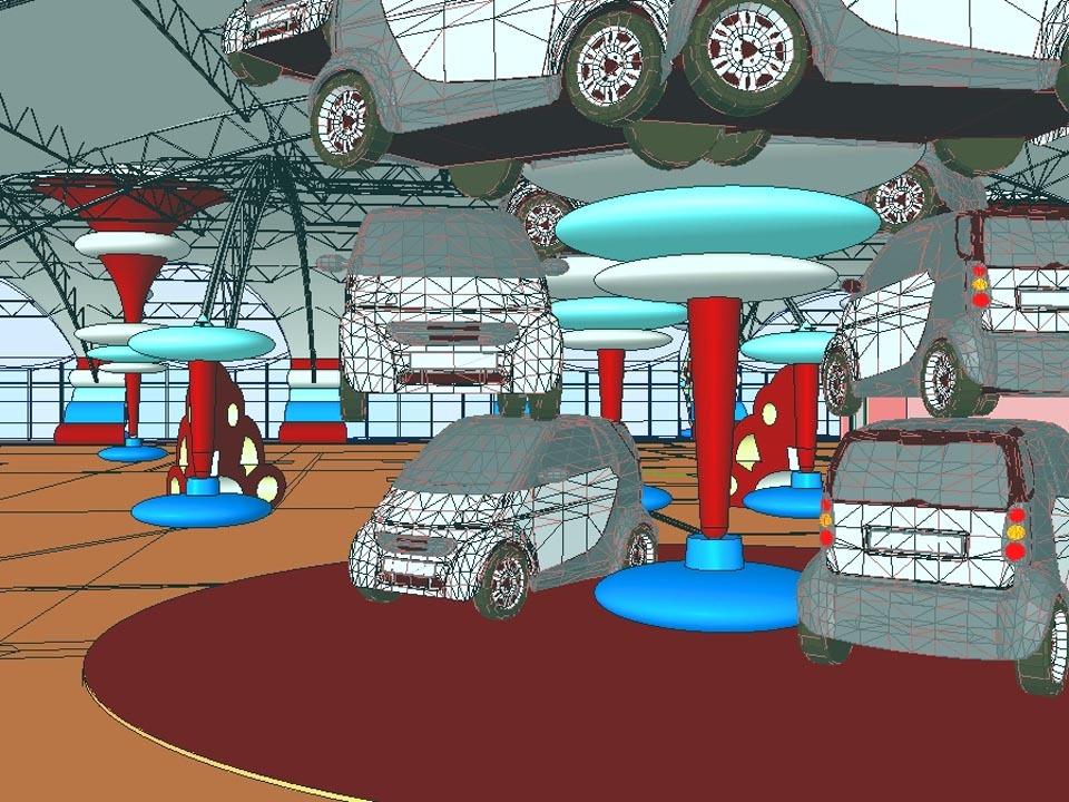 SmartCar Dealership Interior