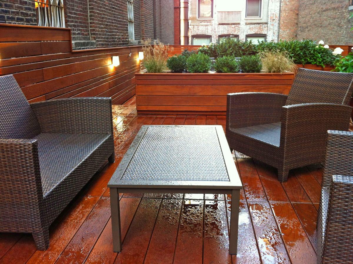 NYC Landscape Design Gramercy Park Rooftop Terrace