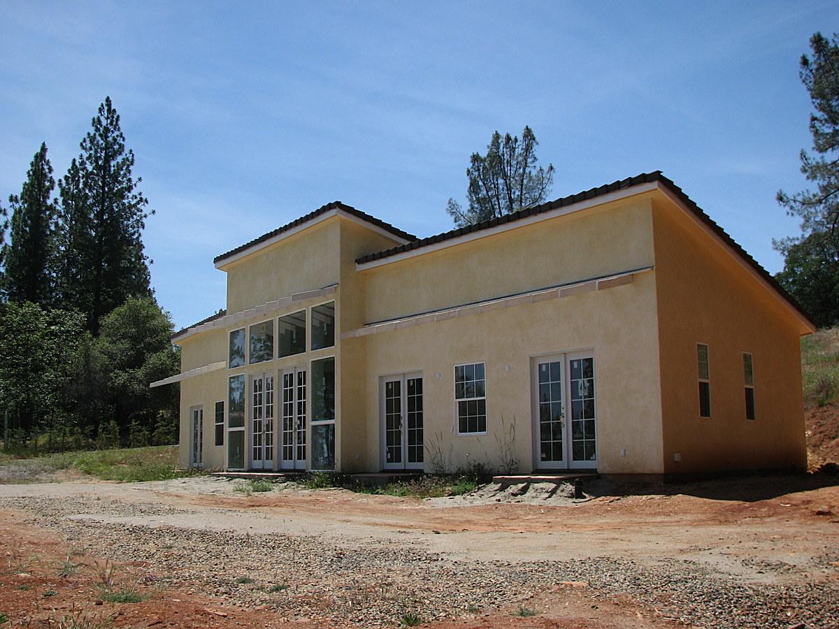 Winghouse, East facade facing Sierra Nevada