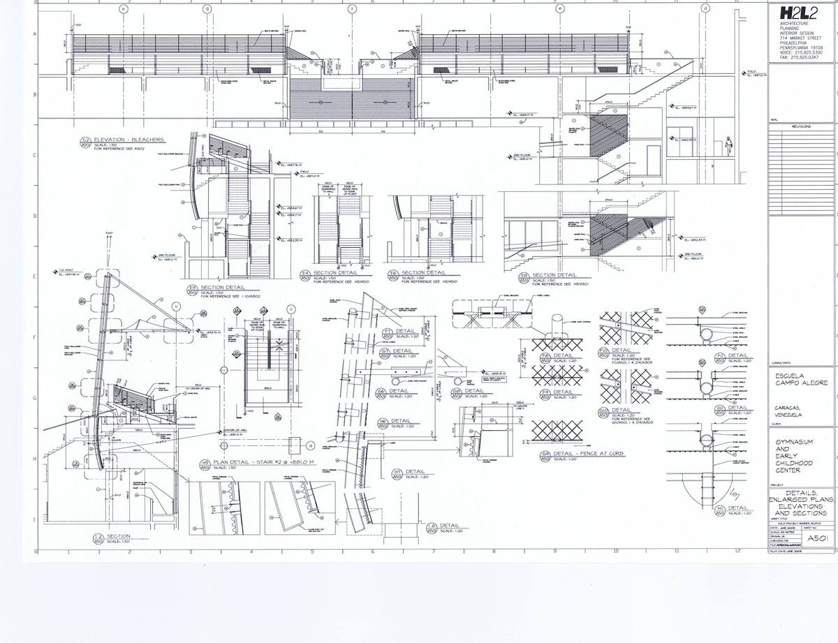 Details, Enlarged Plans, Elevations and Sections