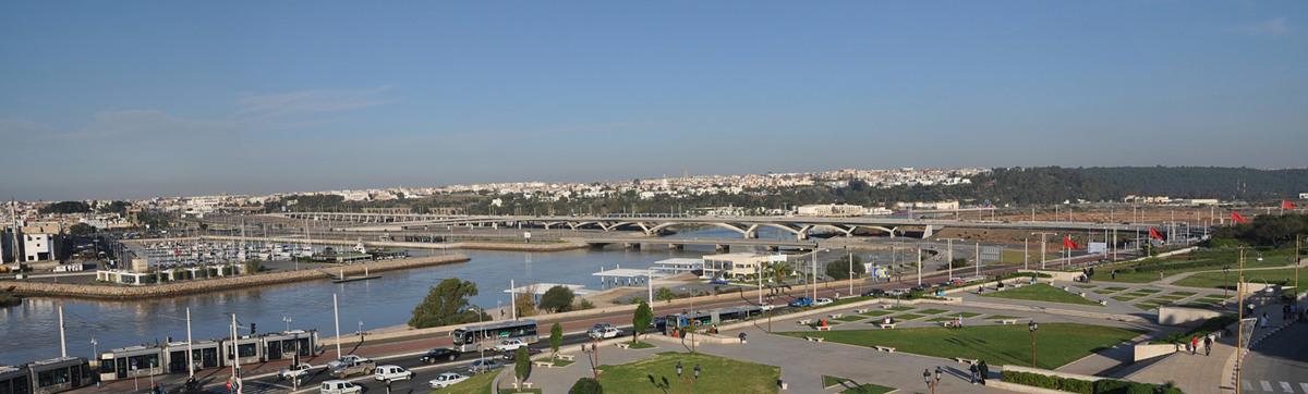 Rabat-Salé Urban Infrastructure Project: General view of the bridge. AKAA / Marc Mimram