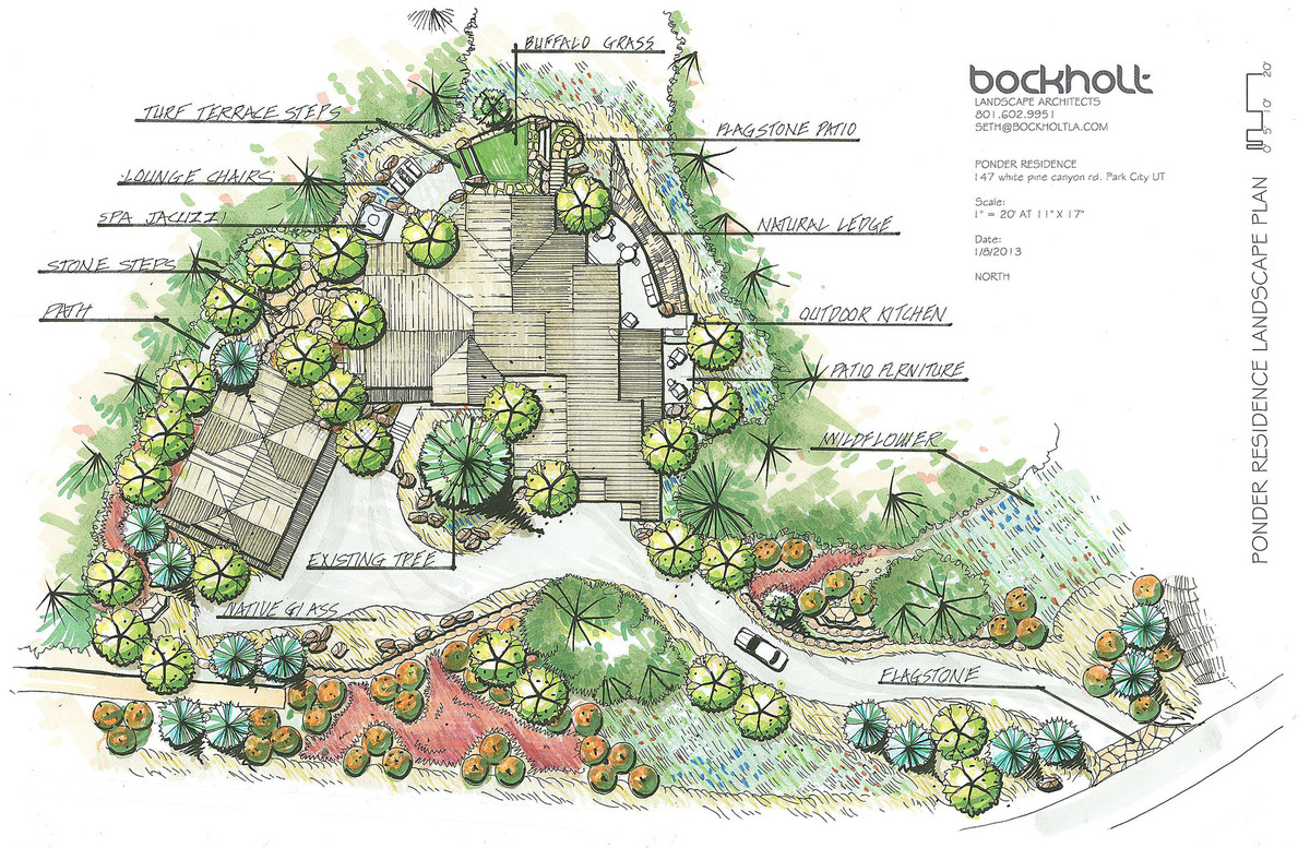 Ponder seth bockholt archinect for Landscape garden design plans